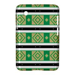 Green Rhombus And Stripes           samsung Galaxy Tab 2 (7 ) P3100 Hardshell Case by LalyLauraFLM
