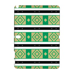 Green Rhombus And Stripes           			samsung Galaxy Note 10 1 (p600) Hardshell Case by LalyLauraFLM
