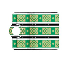 Green Rhombus And Stripes           			kindle Fire Hd (2013) Flip 360 Case by LalyLauraFLM
