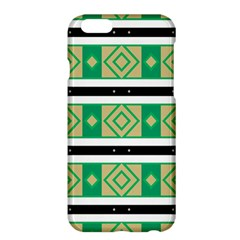 Green Rhombus And Stripes           apple Iphone 6 Plus/6s Plus Hardshell Case by LalyLauraFLM