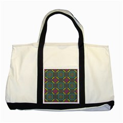 Squares And Circles Pattern 			two Tone Tote Bag by LalyLauraFLM