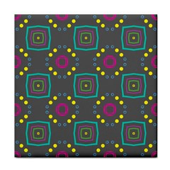 Squares And Circles Pattern 			face Towel by LalyLauraFLM