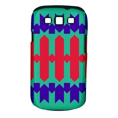 Purple Yellow Shapes  samsung Galaxy S Iii Classic Hardshell Case (pc+silicone) by LalyLauraFLM