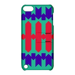 Purple Yellow Shapes  			apple Ipod Touch 5 Hardshell Case With Stand by LalyLauraFLM