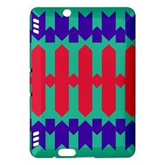 Purple Yellow Shapes  kindle Fire Hdx Hardshell Case by LalyLauraFLM