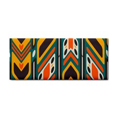 Distorted Shapes In Retro Colors   hand Towel by LalyLauraFLM