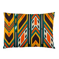 Distorted Shapes In Retro Colors   pillow Case by LalyLauraFLM