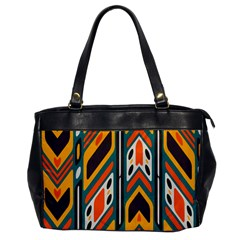 Distorted Shapes In Retro Colors   oversize Office Handbag by LalyLauraFLM