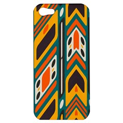 Distorted Shapes In Retro Colors   			apple Iphone 5 Hardshell Case by LalyLauraFLM
