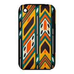 Distorted Shapes In Retro Colors   			apple Iphone 3g/3gs Hardshell Case (pc+silicone) by LalyLauraFLM