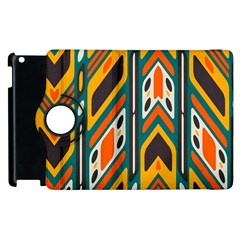 Distorted Shapes In Retro Colors   			apple Ipad 2 Flip 360 Case by LalyLauraFLM