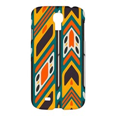 Distorted Shapes In Retro Colors   samsung Galaxy S4 I9500/i9505 Hardshell Case by LalyLauraFLM