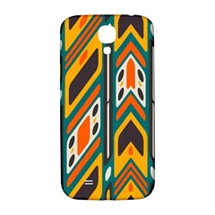 Distorted Shapes In Retro Colors   samsung Galaxy S4 I9500/i9505 Hardshell Back Case by LalyLauraFLM