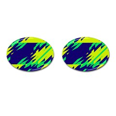 3 Colors Shapes    cufflinks (oval) by LalyLauraFLM
