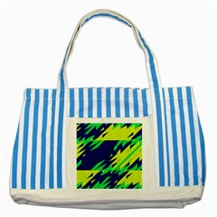 3 Colors Shapes    			striped Blue Tote Bag by LalyLauraFLM