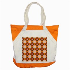 Flowers And Squares Pattern     			accent Tote Bag by LalyLauraFLM