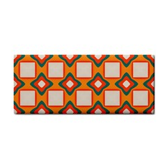 Flowers And Squares Pattern     hand Towel by LalyLauraFLM