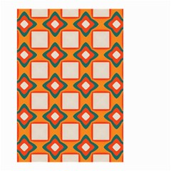 Flowers And Squares Pattern     Small Garden Flag by LalyLauraFLM