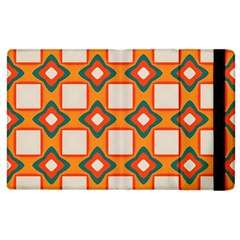 Flowers And Squares Pattern     apple Ipad 2 Flip Case by LalyLauraFLM