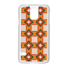Flowers And Squares Pattern     			samsung Galaxy S5 Case (white) by LalyLauraFLM