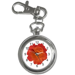 Red Rose Photo Key Chain Watches by dflcprints