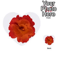 Red Rose Photo Multi Purpose Cards (heart)  by dflcprints