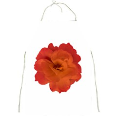 Red Rose Photo Full Print Aprons by dflcprints