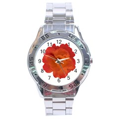 Red Rose Photo Stainless Steel Analogue Watch by dflcprints