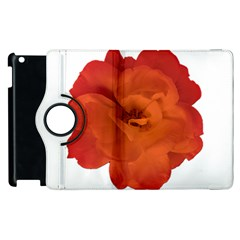 Red Rose Photo Apple Ipad 3/4 Flip 360 Case by dflcprints