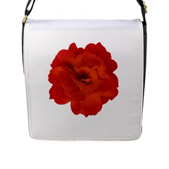 Red Rose Photo Flap Messenger Bag (l)  by dflcprints