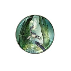 Awesome Seadraon In A Fantasy World With Bubbles Hat Clip Ball Marker by FantasyWorld7
