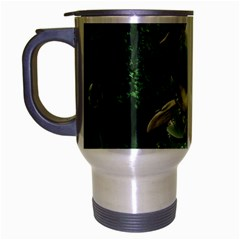 Awesome Seadraon In A Fantasy World With Bubbles Travel Mug (Silver Gray) by FantasyWorld7
