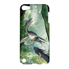 Awesome Seadraon In A Fantasy World With Bubbles Apple Ipod Touch 5 Hardshell Case by FantasyWorld7