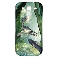 Awesome Seadraon In A Fantasy World With Bubbles Samsung Galaxy S3 S Iii Classic Hardshell Back Case by FantasyWorld7
