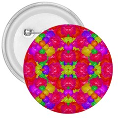 Multicolor Floral Check 3  Buttons by dflcprints