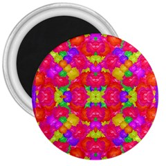 Multicolor Floral Check 3  Magnets by dflcprints