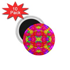Multicolor Floral Check 1 75  Magnets (10 Pack)  by dflcprints