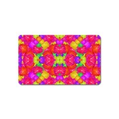 Multicolor Floral Check Magnet (name Card) by dflcprints
