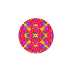 Multicolor Floral Check Golf Ball Marker by dflcprints