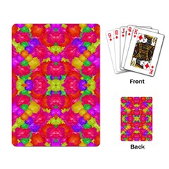 Multicolor Floral Check Playing Card by dflcprints