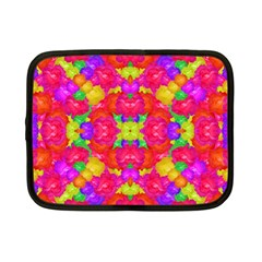 Multicolor Floral Check Netbook Case (small)  by dflcprints