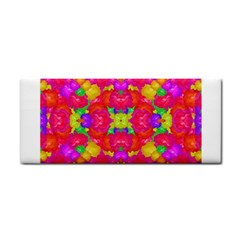 Multicolor Floral Check Hand Towel by dflcprints