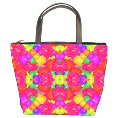 Multicolor Floral Check Bucket Bags by dflcprints