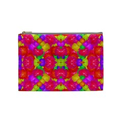 Multicolor Floral Check Cosmetic Bag (medium)  by dflcprints