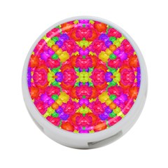 Multicolor Floral Check 4 Port Usb Hub (one Side) by dflcprints