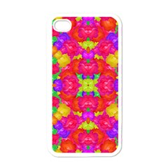 Multicolor Floral Check Apple Iphone 4 Case (white) by dflcprints