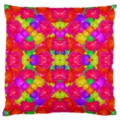 Multicolor Floral Check Large Cushion Case (two Sides) by dflcprints