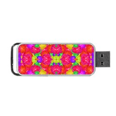 Multicolor Floral Check Portable Usb Flash (one Side) by dflcprints