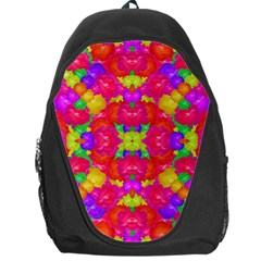 Multicolor Floral Check Backpack Bag by dflcprints