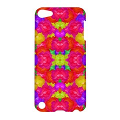Multicolor Floral Check Apple Ipod Touch 5 Hardshell Case by dflcprints